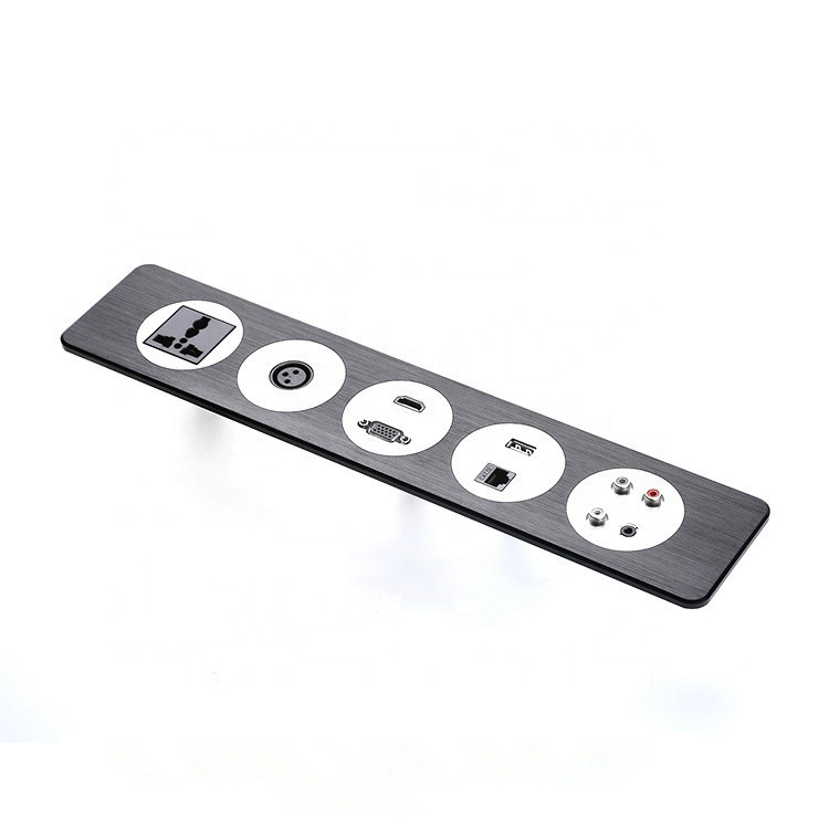 OEM aluminum panel power socket for Office Conference Table / Multifunction Power USB Desktop Interface