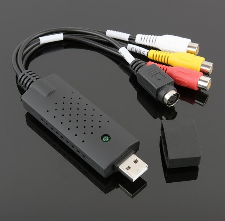Black Cable Cubby Box , One Way USB Video Single Channel AV Signal Capture Data Acquisition Card